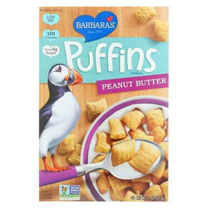 Barbara's Bakery Puffins Cereal - Peanut Butter - 11 oz