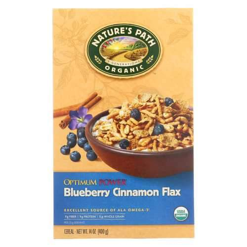 Nature's Path Organic Optimum Power Flax - Soy & Blueberry Cereal - 14 oz