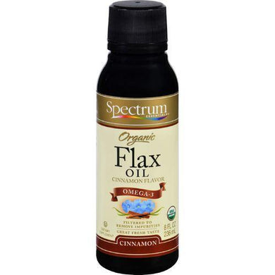 Spectrum Essentials Organic Flax Oil Cinnamon - 8 fl oz