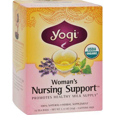 Yogi Organic Woman's Nursing Support - 16 Tea Bags - Case of 6