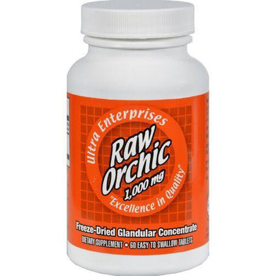 Ultra Glandulars Raw Orchic - 1000 mg - 60 Tablets