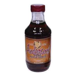 anderson's Maple Syrup Grade A Dark Amber Maple Syrup - Case of 12 - 16 fl oz