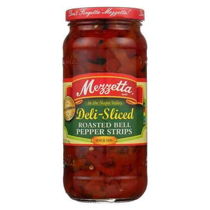 Mezzetta Deli - Sliced Roasted Bell Pepper Strips - Case of 6 - 16 oz.