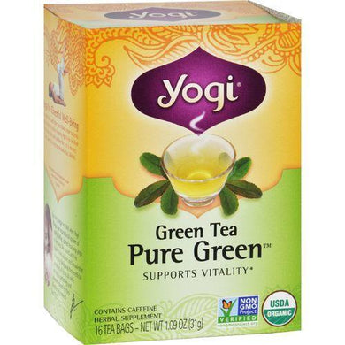 Yogi Tea Pure Green - Green Tea - Contains Caffeine - 16 Tea Bags