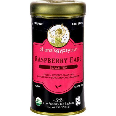 Zhena's Gypsy Tea Raspberry Earl Black Tea - Case of 6 - 22 Bags