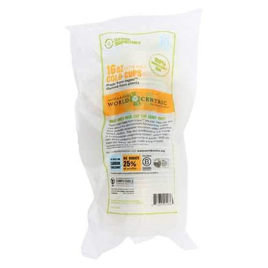 World Centric Compostable Clear - Case of 12 - 16 oz.