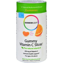 Rainbow Light Gummy Vitamin C Slices Tangy Orange - 250 mg - 90 Gummies Slices