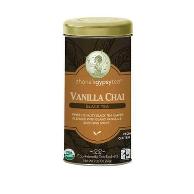Zhena's Gypsy Tea Black Tea - Vanilla Chai - Case of 6 - 22 Bags