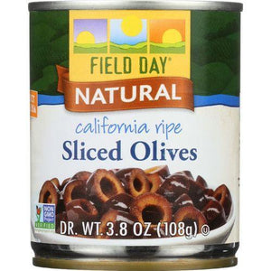 Field Day Olives - Black - Sliced - California Ripe - 3.8 oz - case of 12