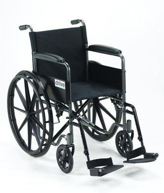 Wheelchair 18   w/Fixed Full Arms & Swingaway Det Footrests