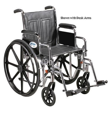 Wheelchair Std. 16  Fixed Arms w/Swingaway Footrests