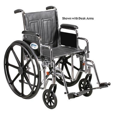 Wheelchair Std 18  Fixed Arms w/Swing-Away Footrests