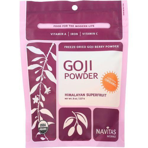 Navitas Naturals Goji Berry Powder - Organic - Freeze-Dried - 8 oz - case of 12