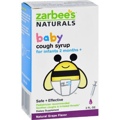 Zarbee's Naturals Baby Cough Syrup - Grape - 2 oz