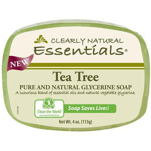 Clearly Natural Glycerin Bar Soap - Tea Tree - 4 oz