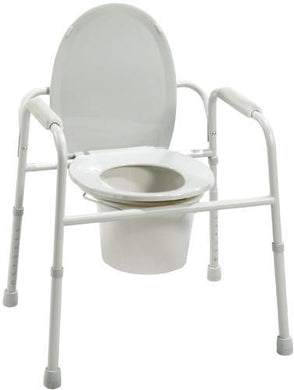 Commode - 3 In 1 Deluxe Steel w/Deep Seat  Assembled-(Drive)