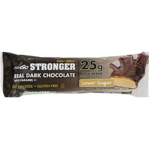 NuGO Nutrition Bar - Stronger Real Dark Chocolate - 2.82 oz - Case of 12