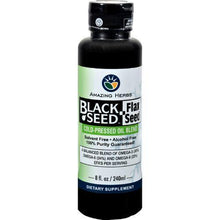 Amazing Herbs Black Seed Oil Blend - Flax Seed Oil - 8 oz