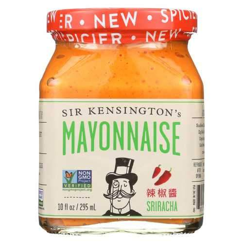 Sir Kensington's Sriracha Mayonnaise - Case of 6 - 10 Fl oz.