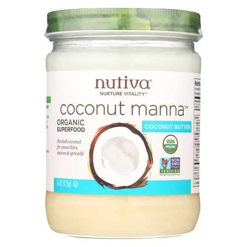 Nutiva Organic Manna - Coconut - Case of 6 - 15 oz.
