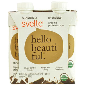 Svelte Protein Shake - Organic - Chocolate - 11 fl oz - Case of 24