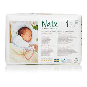 Naty - Baby Diaper Size 1 8-14 Lb - Case of 4 - 26 CT