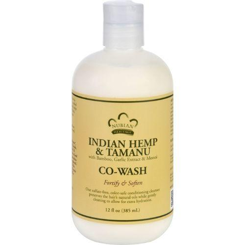 Nubian Heritage Conditioner - Co-Wash - Indian Hemp and Tamanu - 12 oz