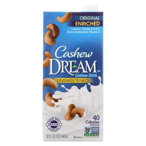 Dream Original Unsweetened Cashew Drink - Case of 6 - 32 FL oz.