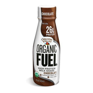 Organic Valley Fuel Milk Protien Shake - Chocoloate - Case of 12 - 11oz Bottle