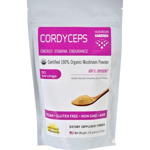 Mushroom Matrix Cordyceps Militaris - Organic - Powder - 3.57 oz