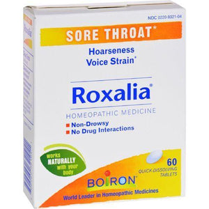 Boiron Roxalia Tablets - Sore Throat - 60 Tablets