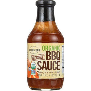 Woodstock Organic BBQ Sauce - Hickory - Case of 12 - 18 oz.