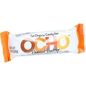 Ocho Candy Organic Candy Bar - Peanut Butter - 1.4 oz - Case of 18