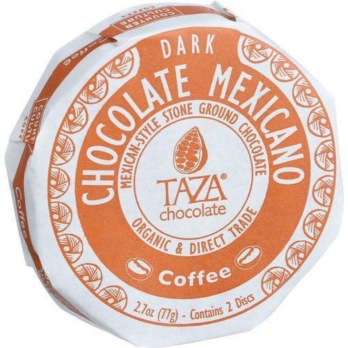 Taza Chocolate Organic Chocolate Mexicano Discs - 55 Percent Dark Chocolate - Coffee - 2.7 oz - Case of 12