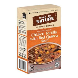 Back To Nature Soup - Chicken Tortilla with Red Quinoa - Case of 6 - 17.4 oz.