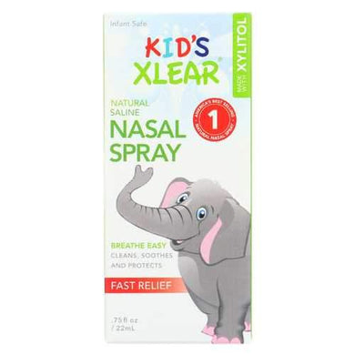 Xlear Kids Nasal Spray - Case of 12 - 0.75 Fl oz.