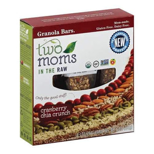 Two Moms In The Raw Granola Bars - Cranberry Chia Crunch - Case of 6 - 6 oz.