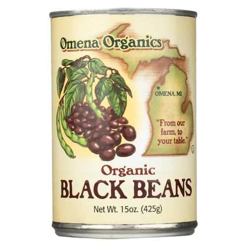 Omena Organics Black Beans - Organic - Case of 12 - 15 oz