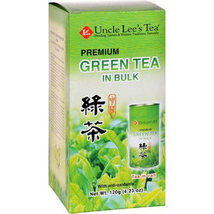 Uncle Lees Tea - Green - Premium - In Bulk - Loose - 4.23 oz - Case of 6