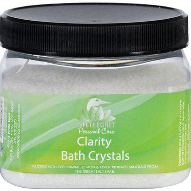 White Egret Bath Crystals - Clarity - 16 oz