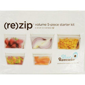 Blue Avocado Bag - Re-Zip - Volume Starter Kit - Clear - 5 Pieces