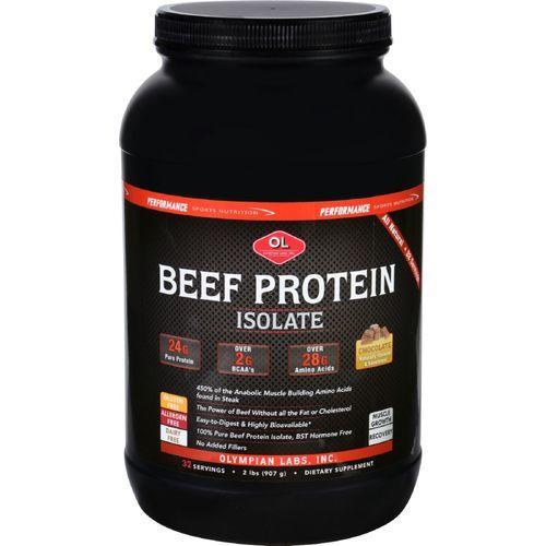 Olympian Labs Beef Protein Isolate - Chocolate - 2 lb