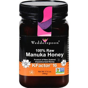 Wedderspoon Honey - Manuka - 100 Percent Raw - KFactor 16 - 17.6 oz