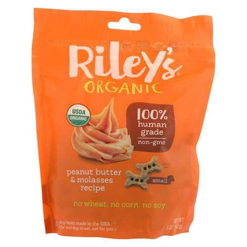 Riley's Organics Riley's Organic Treats - Peanut Butter and Molasses - Case of 5 - 5 oz.
