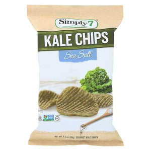Simply 7 Kale Chips - Sea Salt - Case of 12 - 3.5 oz.
