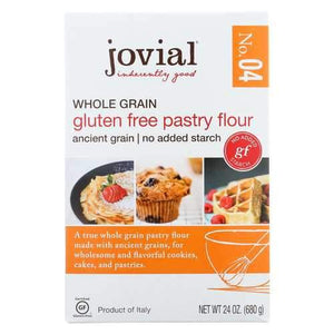 Jovial Gluten Free Pastry Flour - Whole Grain - Case of 6 - 24 oz.