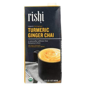 Rishi Chai Concentrate - Turmeric Ginger - Case of 12 - 32 Fl oz.