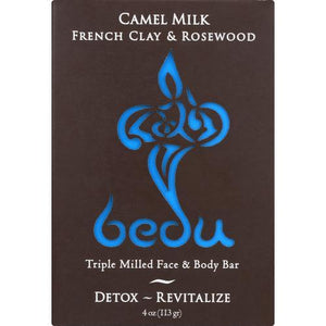 Bedu Face and Body Bar - French Clay and Rosewood - Case of 6 - 4 oz.