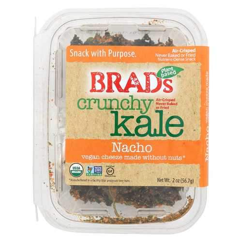 Brad's Raw Foods Crunchy Kale - Naked - Case of 6 - 2 oz.