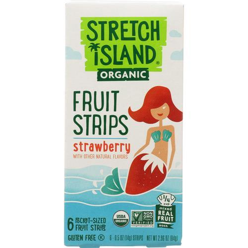Stretch Island Organic Fruit Strips - Strawberry - Case of 12 - 3 oz.